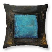Blue Square Throw Pillow