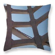 Blue Stairs Throw Pillow