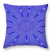 Blue Star Janca Abstract Throw Pillow
