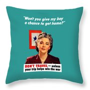 Blue Star Mother -- Ww2 Throw Pillow