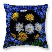 Blue Star Universe Throw Pillow