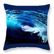 Blue Stew Throw Pillow