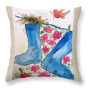 Blue Stockings Throw Pillow