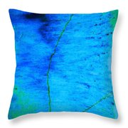 Blue Stone Abstract Throw Pillow