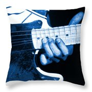 Blue String Bender Throw Pillow
