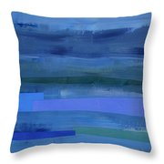 Blue Stripes 1 Throw Pillow