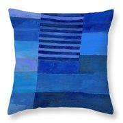 Blue Stripes 7 Throw Pillow