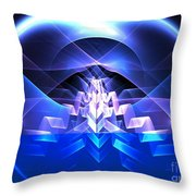 Blue Summit Throw Pillow