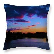 Blue Sunset  Throw Pillow