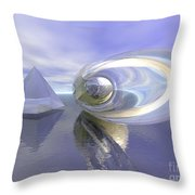 Blue Surreal Throw Pillow