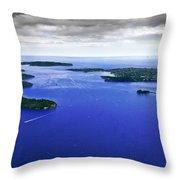 Blue Sydney Harbour Throw Pillow