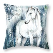 Blue Symphony Throw Pillow