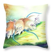 Blue Tailed Society Throw Pillow