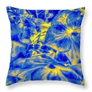 Blue Tango Floral Throw Pillow
