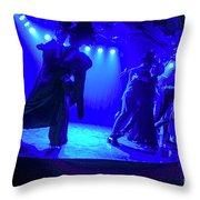 Blue Tango Throw Pillow