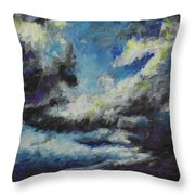 Blue Tempest Throw Pillow