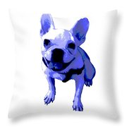 Blue Terrier Throw Pillow