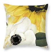Blue Then Yellow II Throw Pillow