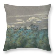 Blue Thicket Throw Pillow