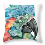 Blue-throated Macaw Throw Pillow
