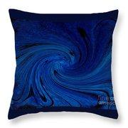 Blue Thunder Throw Pillow