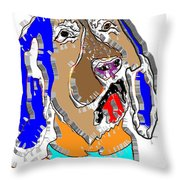 Blue Tic Hound Colorful Throw Pillow