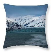 Blue Tidewater Glacier  Throw Pillow