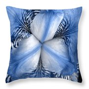 Blue Tiger Iris Throw Pillow
