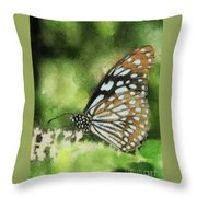 Blue Tiger Throw Pillow