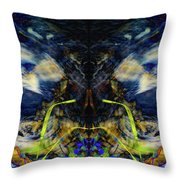 Blue Tigers Devil Throw Pillow