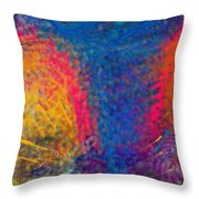 Blue Tornado 3 Throw Pillow