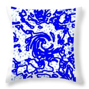 Blue Tornado Throw Pillow
