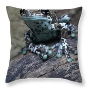 Blue Tree Frog Throw Pillow