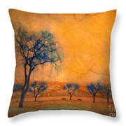Blue Trees And Dreams Throw Pillow