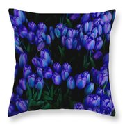 Blue Tulips Throw Pillow