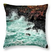 Blue Turmoil Throw Pillow