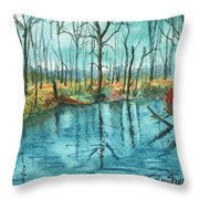 Blue Under Blue Throw Pillow