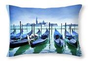 Blue Venice Throw Pillow