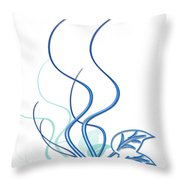 Blue Vine Throw Pillow