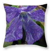 Blue Violet Raindrops Throw Pillow