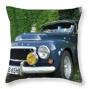 Blue Volvo Throw Pillow