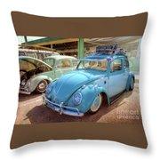 Blue Vw Throw Pillow