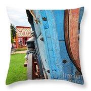Blue Wagon 1 Throw Pillow
