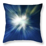 Blue Warp Throw Pillow