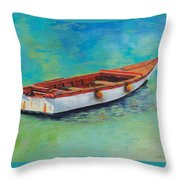 Blue Water Gem Throw Pillow
