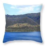 Blue Water Green Islands Throw Pillow