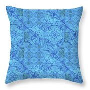 Blue Water Patchwork Throw Pillow