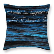 Blue Water With Inspirational Text Throw Pillow