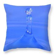 Blue Waterdrop Throw Pillow