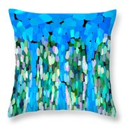 Blue Waterfalls And Teardrops Throw Pillow